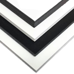Gilman Insite Reveal Infinity White/Black/Black Foam Board 48 x 96 x 3/16th 10  Sheets