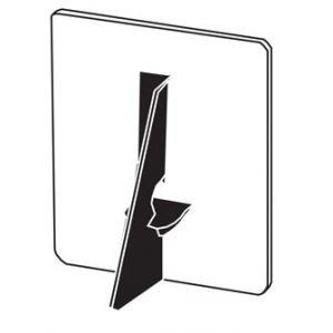 Lineco Cardboard Easel Backs Black 7 Inch 500 pack