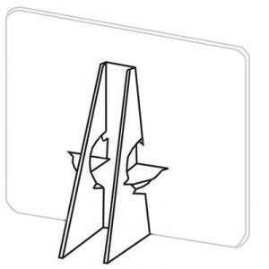 Lineco Double Wing White 7 Inch Easel Backs 400 pack