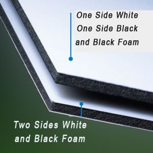 60 x 120 x 1/2 White/White-Black Core Gator Board  8 Pack
