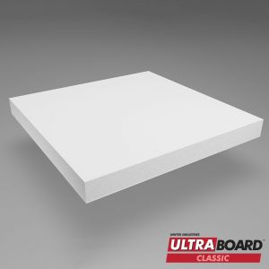 48 x 96 x 1/2  White Ultra Board 12 Pack