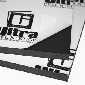 Black Ultra Mount Peel and Stick 48 x 98 x 1/2 12 Sheets