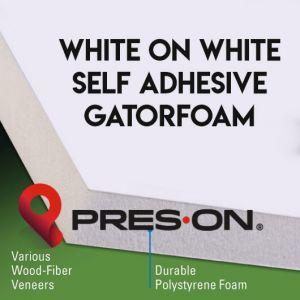 40 x 60 x 3/16th Pres-On White Self Adhesive Gator Board 15 sheets