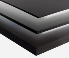 Black Sinta PVC Board 3mm Custom Cut Sizes