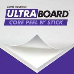 48 x 96 x 3/16th White Ultraboard Core Peel N' Stick 16 sheets