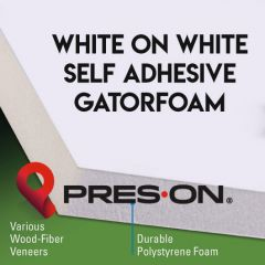24 x 36 x 3/16th Pres-On White Self Adhesive Gator Board 25 sheets