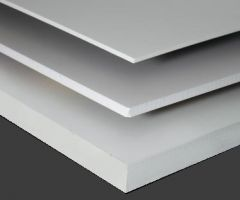 White Sinta PVC Board 3mm Custom Cut Sizes